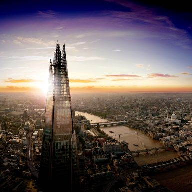 See The View from The Shard at Dusk